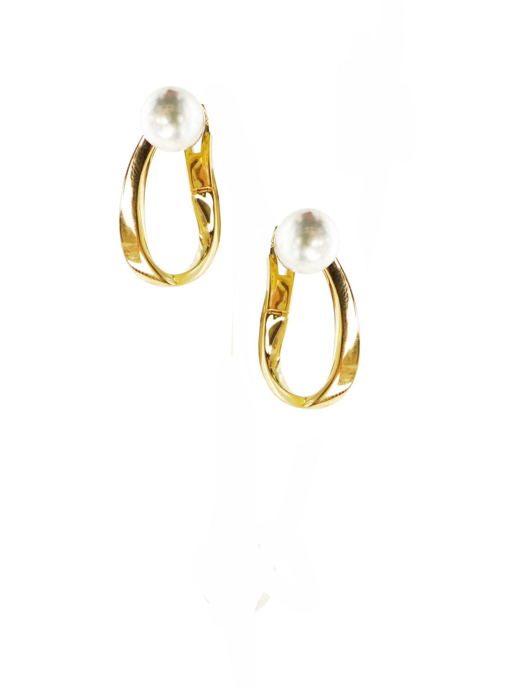 Orecchini in oro giallo18k con perle Akoya