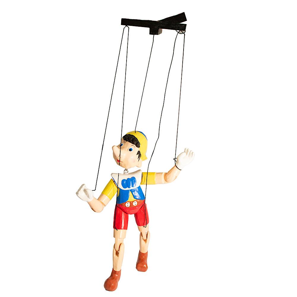 Pinocchio burattino in legno cm 30