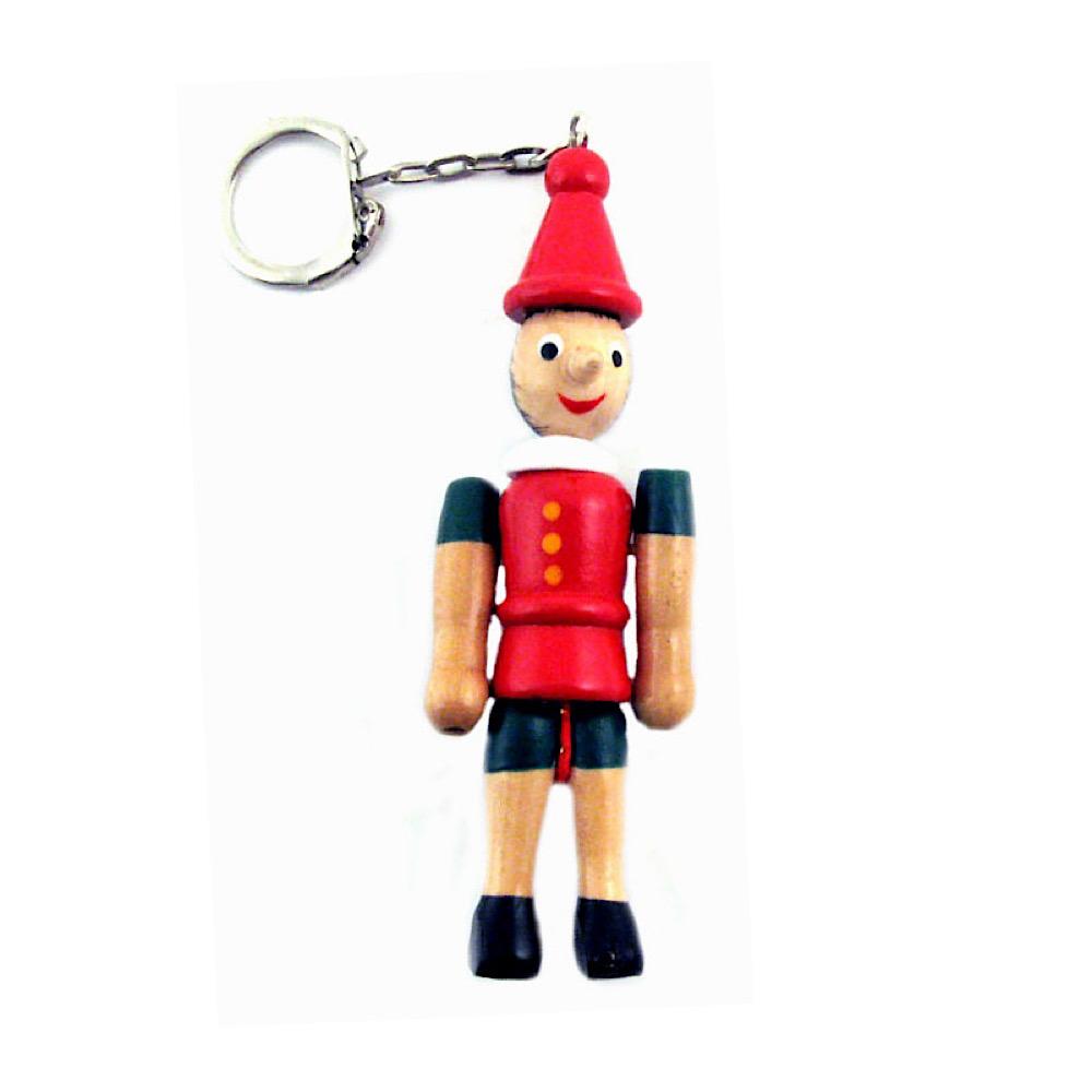 Pinocchio portachiavi in legno cm 10