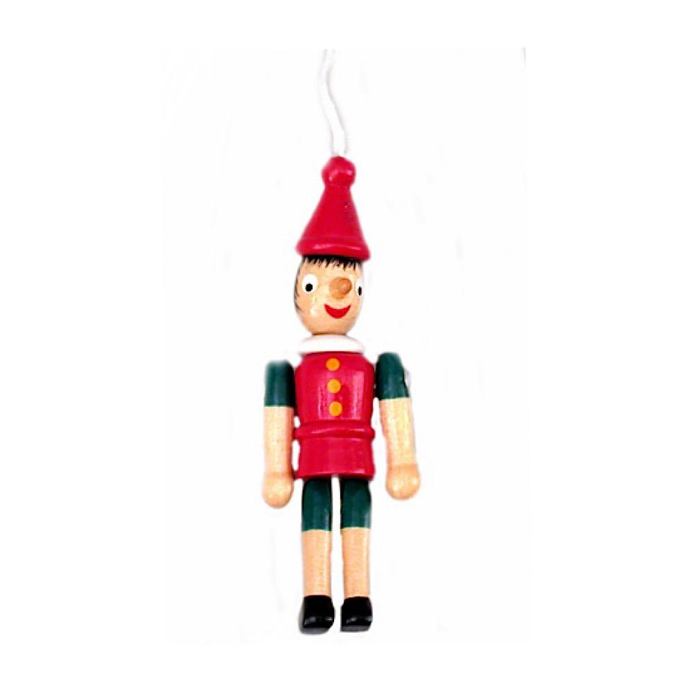 Pinocchio in legno cm 8 con corda