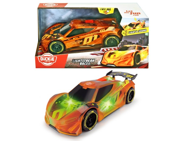 DK AUTO LIGHTSTREAK RACER Cm.20 203763002 SIMBA NEW