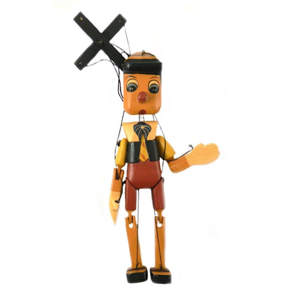 Pinocchio in legno antico cm 45