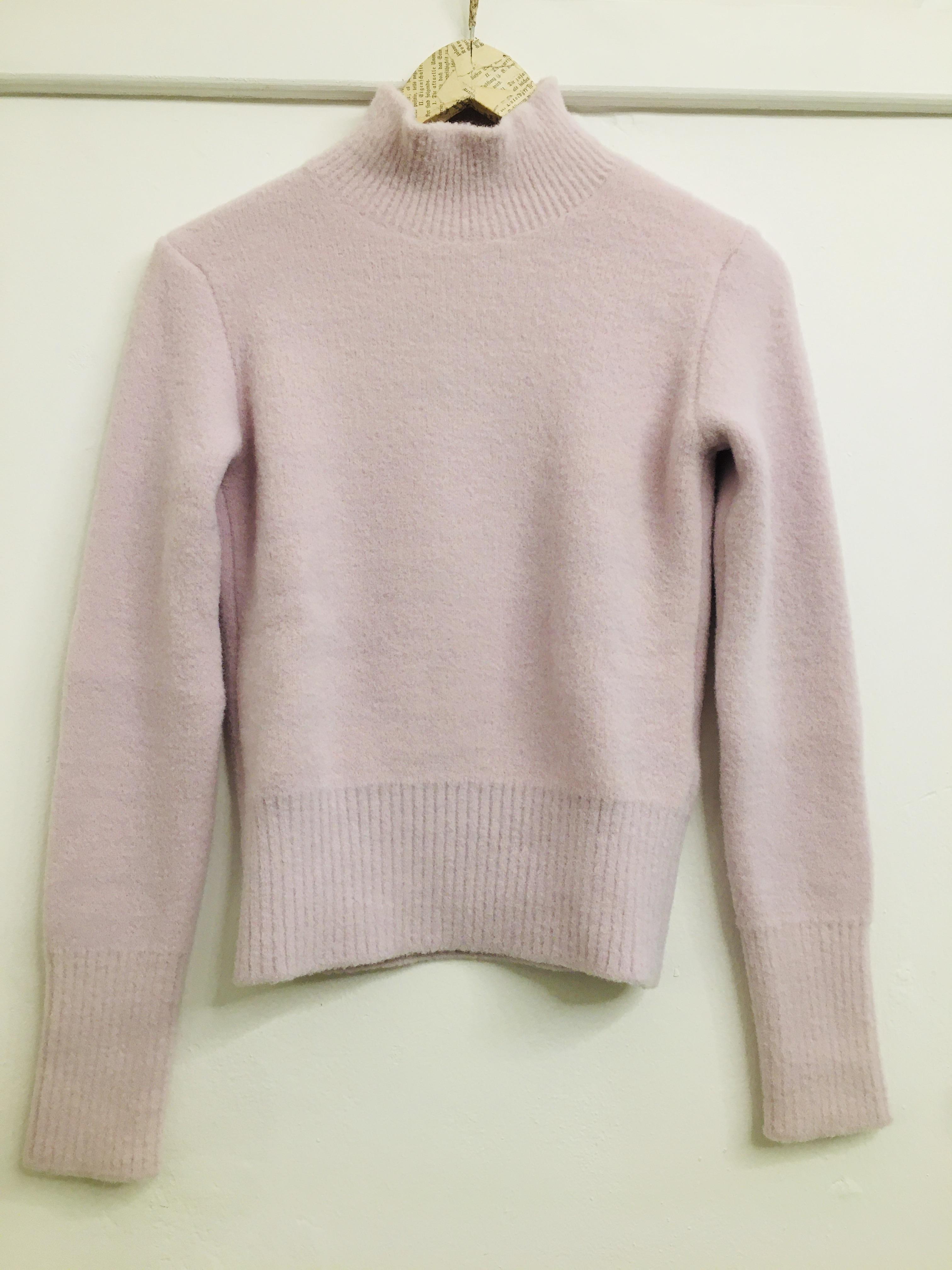 Maglione donna|  collo a dolcevita| rosa pallido| manica lunga| modello