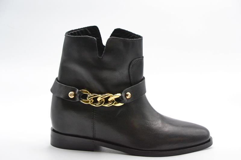 Novità A/I 2021 Woz Calzatura Donna-Vitello Nero/Catena Oro 20127