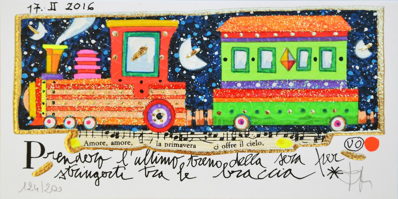 Musante Francesco Serigrafia polimaterica Formato cm 10x20