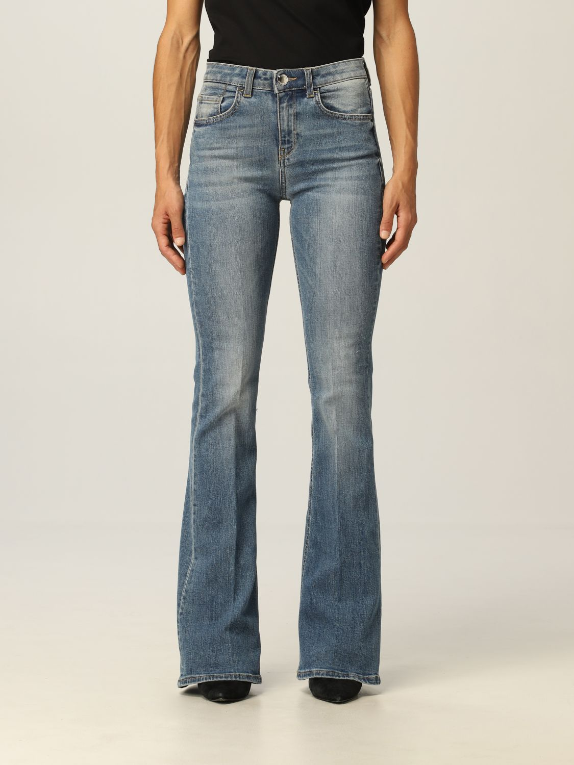 SHOPPING ON LINE PINKO JEANS CON LOGO FLORA 17 NEW COLLECTION WOMEN'S FALL/WINTER 2022