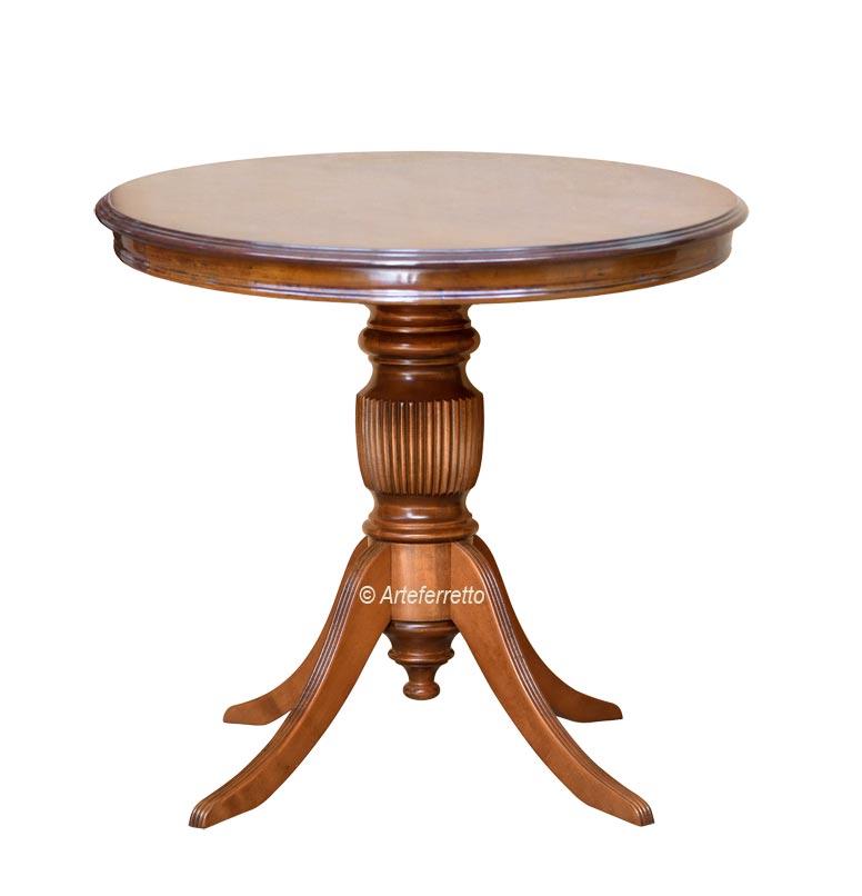 Tavolino rotondo 80 cm con gambone rigato