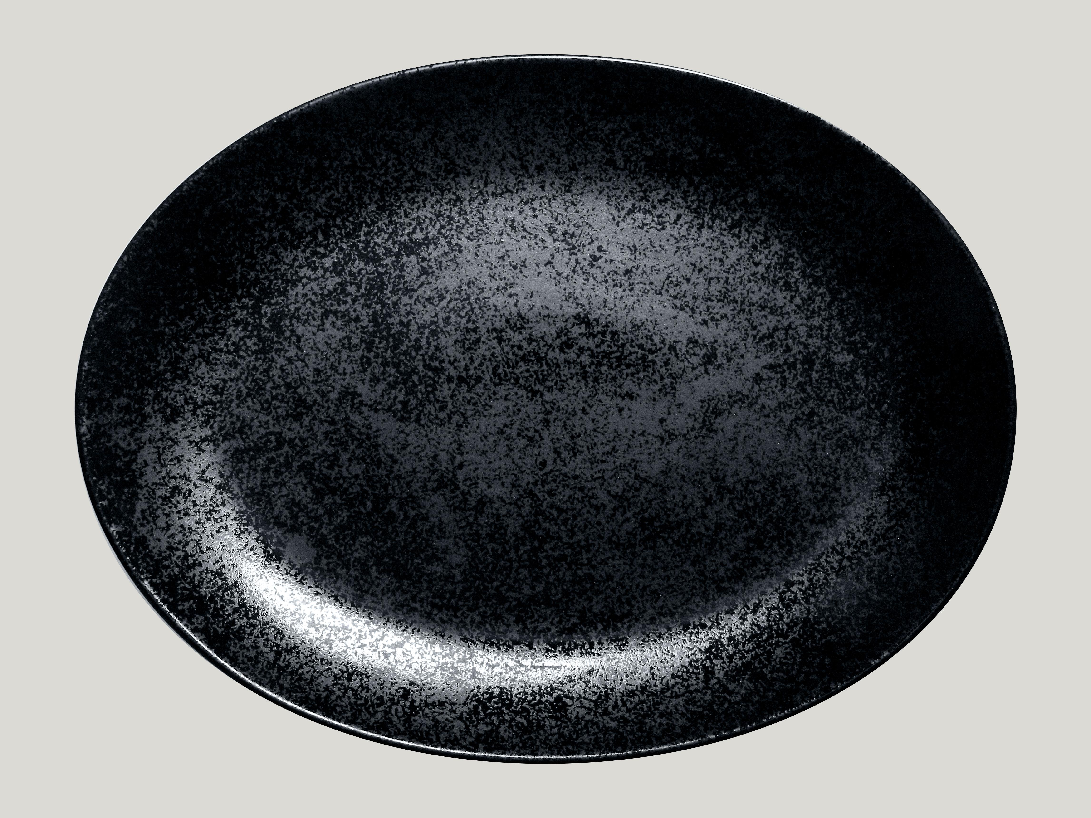 Platte oval Fusion Karbon (6stck)