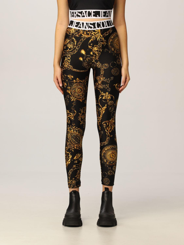 Leggings  con stampa regalia Baroque Versace Jeans Couture