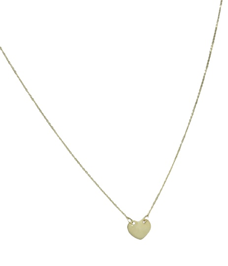 Girocollo in oro giallo 18kt con cuore centrale
