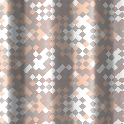 TENDA PER DOCCIA 2 LATI IN TESSUTO CM. 180 X 200 Mod. Frammento Beige  -