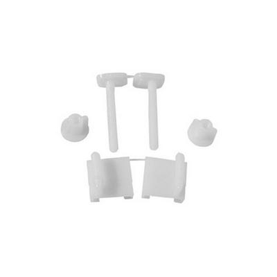 COPPIA SUPPORTI PER SEDILI IN PVC CON VITI IN PLASTICA Bianco