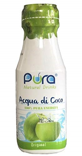 ACQUA DI COCCO - Senza Zucchero aggiunto - Confezione con 6 PET da 280 ml