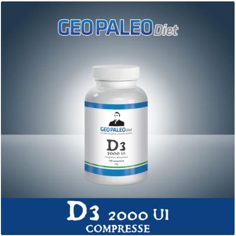 SCORTA 10pz Vitamina D3 Alto Dosaggio 2000 UI in mini-compresse - Senza Biossido di Titanio/Silicio