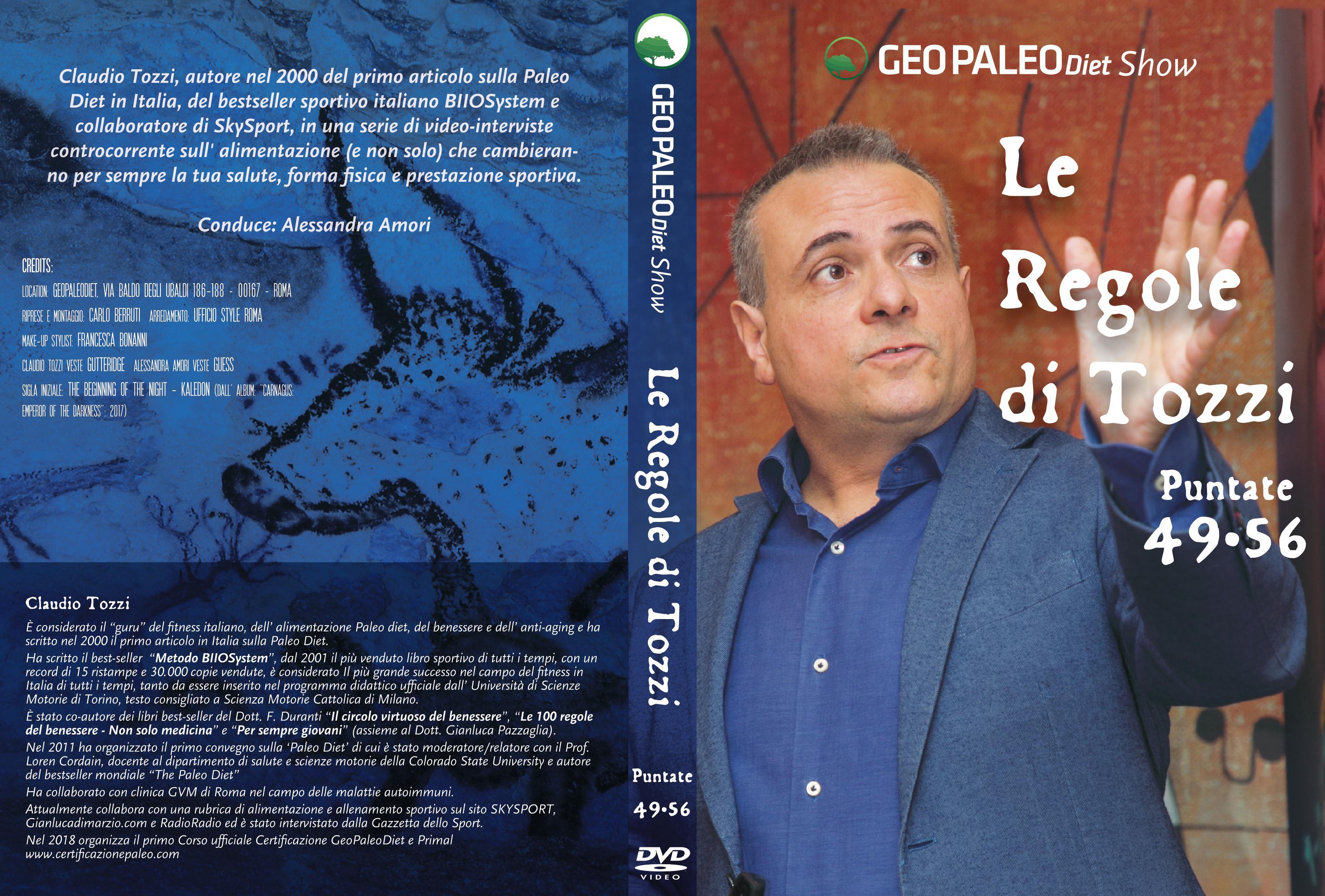 Le Regole di Tozzi - GeoPaleoDiet Show. DVD Video doppio - Puntate 49-56