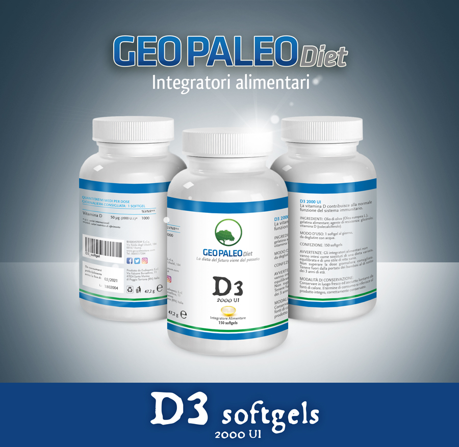 Vitamin D3 High Dosage 2000 IU in mini-tablets - Without Titanium Dioxide / Silicon