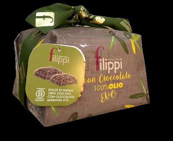 Dolce natalizio all' Olio Extra Vergine e gocce di cioccolato - Past. Filippi- Zanè (VI)