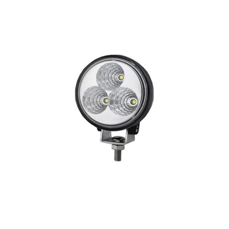 Lampada da lavoro 3 led - 9 watt - 12/24V - 600 lumen