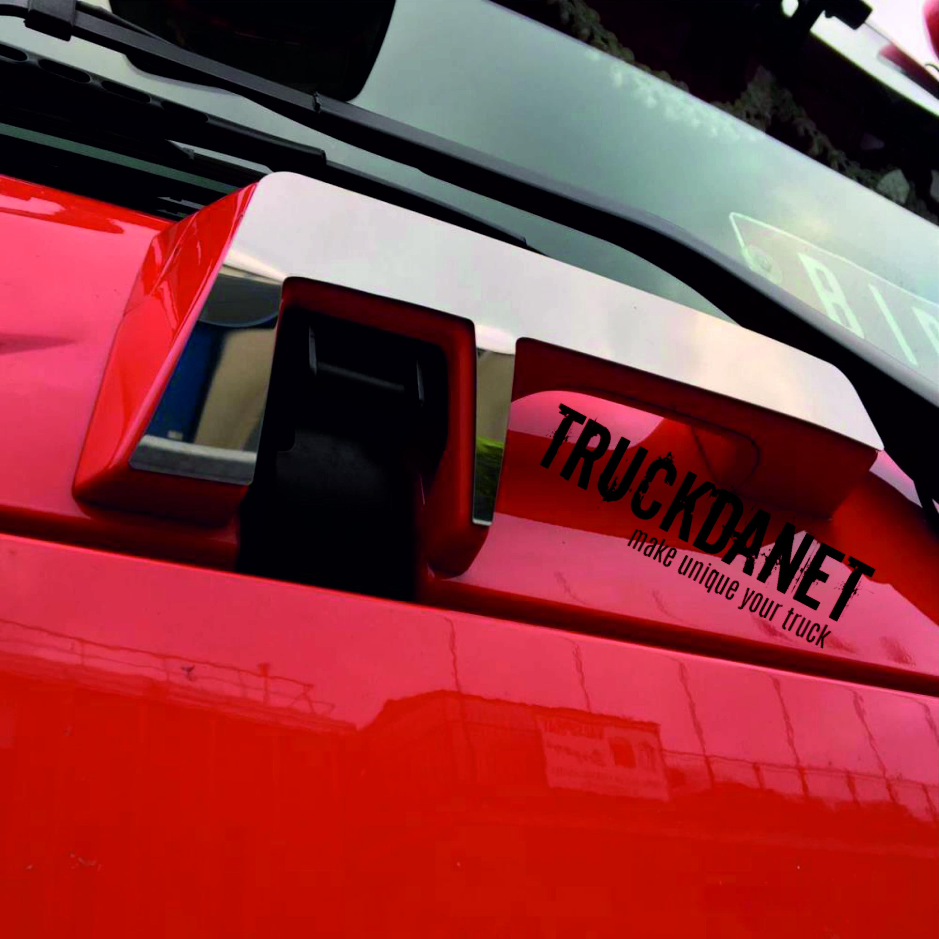 RENAULT T Copri maniglie sotto vetro in acciaio Inox lucido